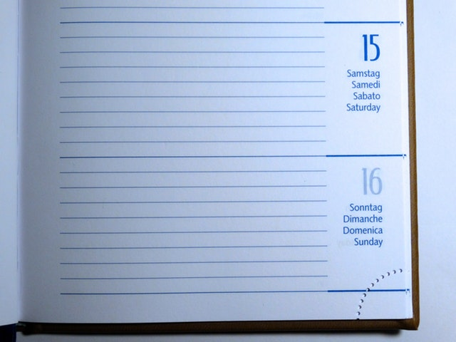 Agenda-Dates